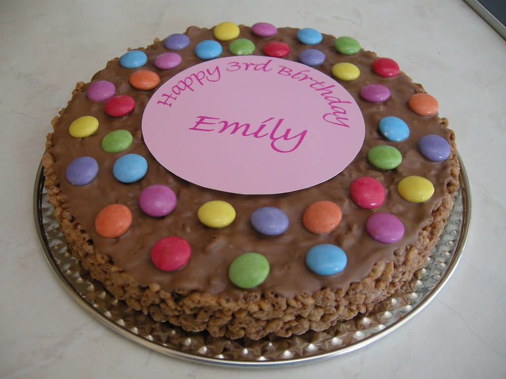 Rice Krispie Birthday Cake Quick And Easy Rice Krispie Cak Flickr