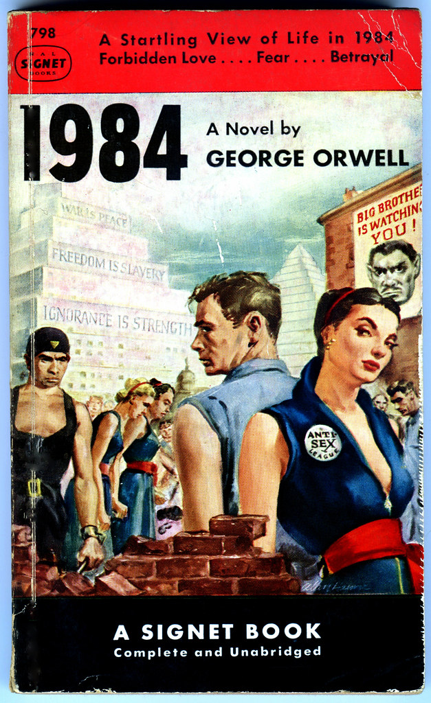 a comparison of george orwells 1984 and the time machine by h g wells