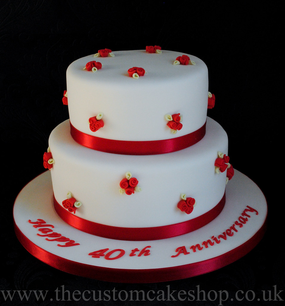 designs for ruby wedding cakes 40th ruby wedding anniversary cake 40th ruby wedding 13479