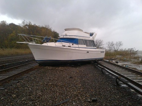 Boat On the Tracks near MNR's Ossining Station | by MTAPhotos