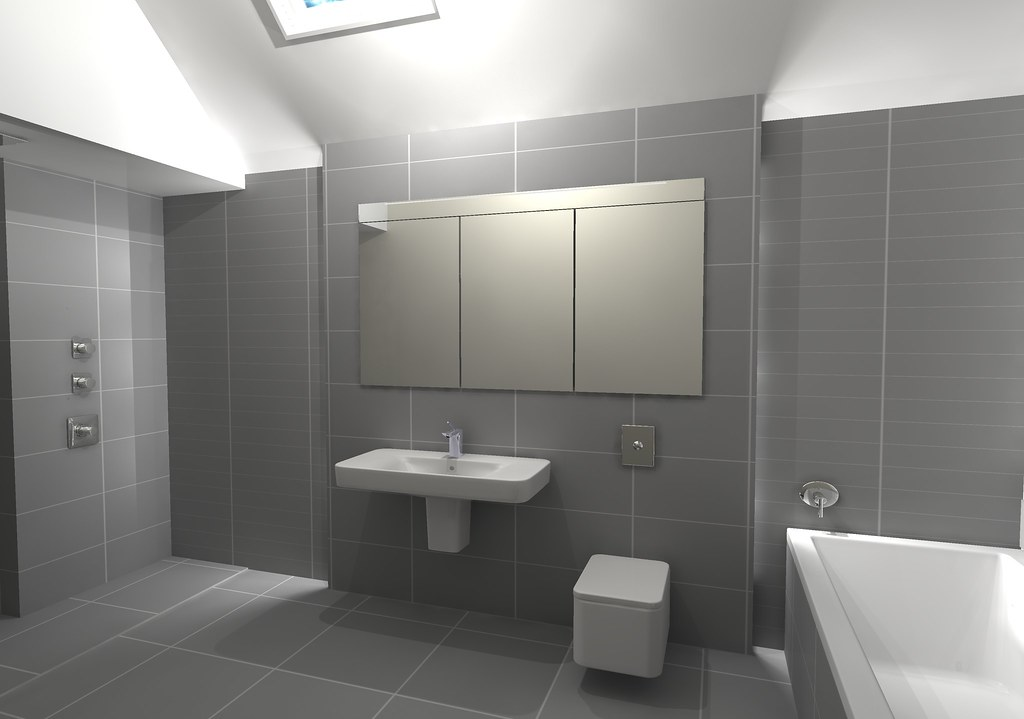 Floating Wall And Storage Design For House Bathroom With W Flickr