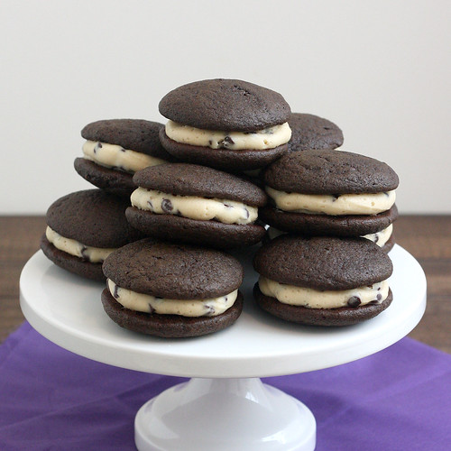 Chocolate Chip Cookie Dough Whoopie Pies | by Tracey's Culinary Adventures