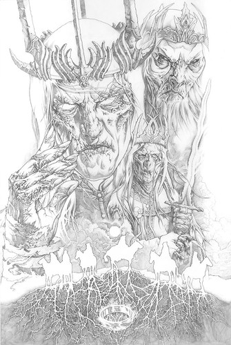 LOTR_NazgulKings_Pencil_WIP01 | by Mike Sutfin