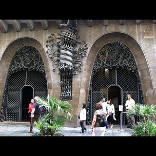 #kvpspain : Outside Guadi's palace in La Rambla. | by queenkv
