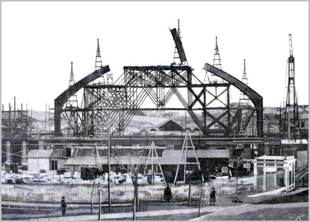 Construcci n de la nueva estaci n de atocha madrid 1889 - Empresas de construccion en madrid ...