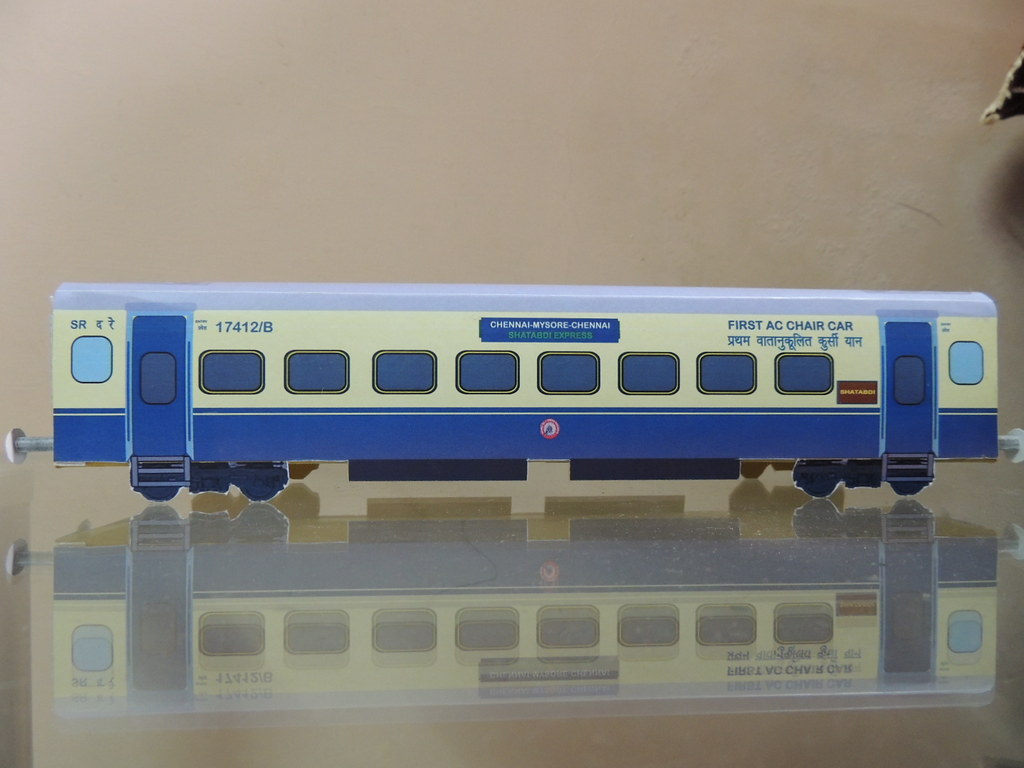 indian railway paper model of shatabdi express first ac ch flickr