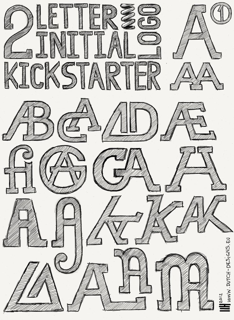 two letter logo initials kick starter by wouterzartz dutch designs