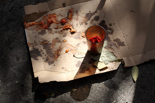 Empty pizza box, First Avenue, Manhattan | by Eating In Translation