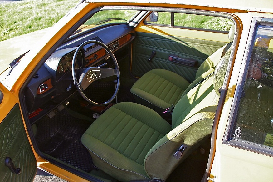 audi 50 interior orange car green interior brilliant alpus flickr. Black Bedroom Furniture Sets. Home Design Ideas