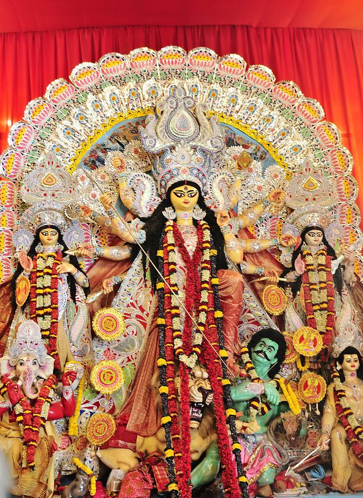 Durga Idol 2012 Shiv Mandir C R Park Delhi India Flickr