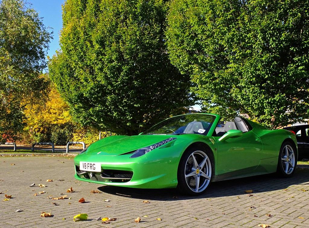 by czd72 green ferrari 458 spider by czd72 - Ferrari 458 Spider Green