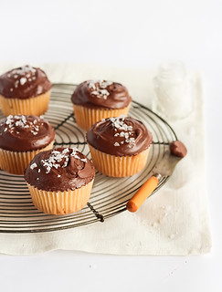 Chocolate, Olive Oil & Sea Salt Cupcakes | by raspberri cupcakes
