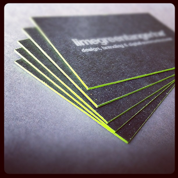 Letterpress business cards silver ink on 1000mic recycle flickr letterpress business cards silver ink on 1000mic recycled board edge paint by reheart Choice Image