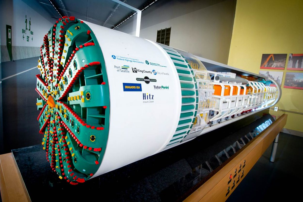 Check Out Our Sr 99 Tunnel Boring Machine Model At Milepos