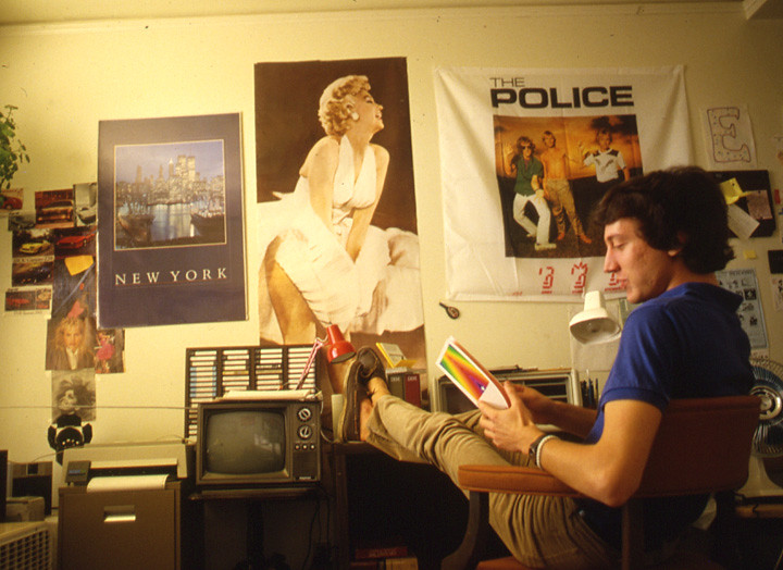 ... Student Studying In His Dorm Room In 1990 | By Pomona College Part 38