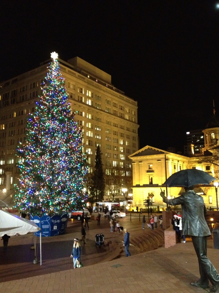 christmas in pioneer square portland oregon by 305 seahill