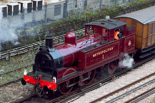 Train Lever In Lodon : Met exiting lillie bridge depot london underground