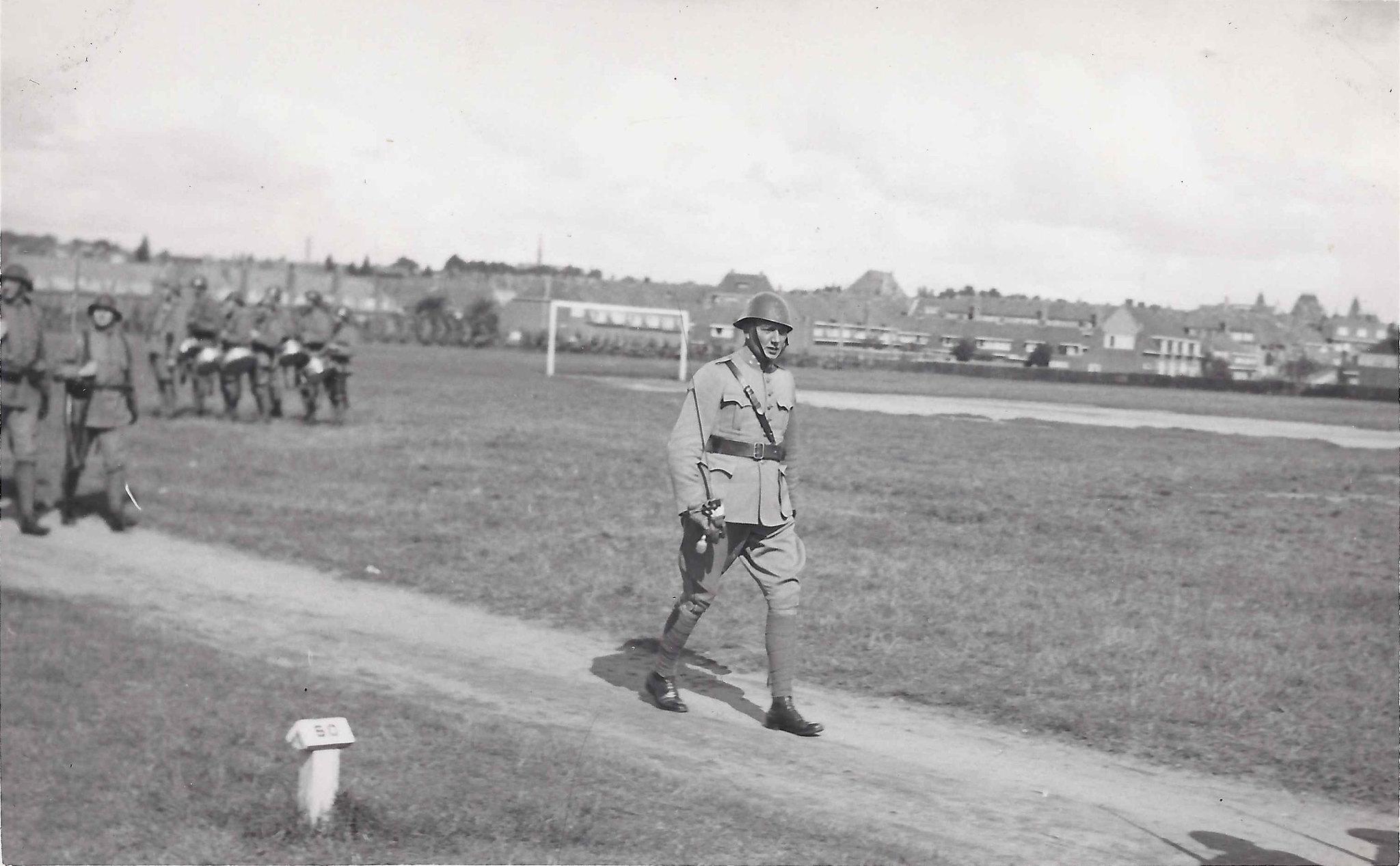 Fredrik Alberts on military training parade ground