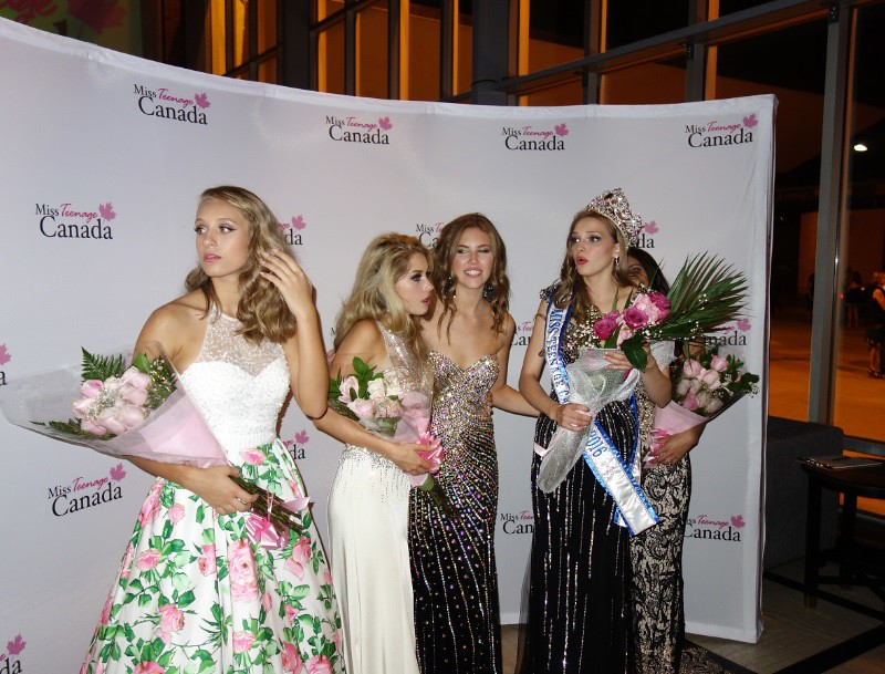 Top five finalists at the 2016 Miss Teenage Canada competition - 24 july 2016