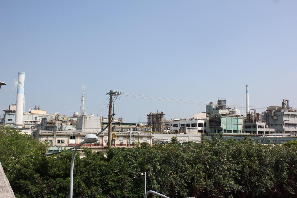 台化彰化廠的煙囪。(攝影:張宗坤)