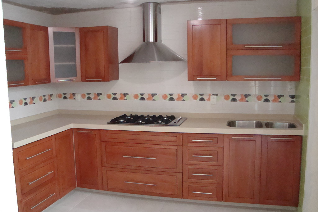 Cocina integral de madera cedro jj cocinas integrales Modelos de cocinas de madera modernas