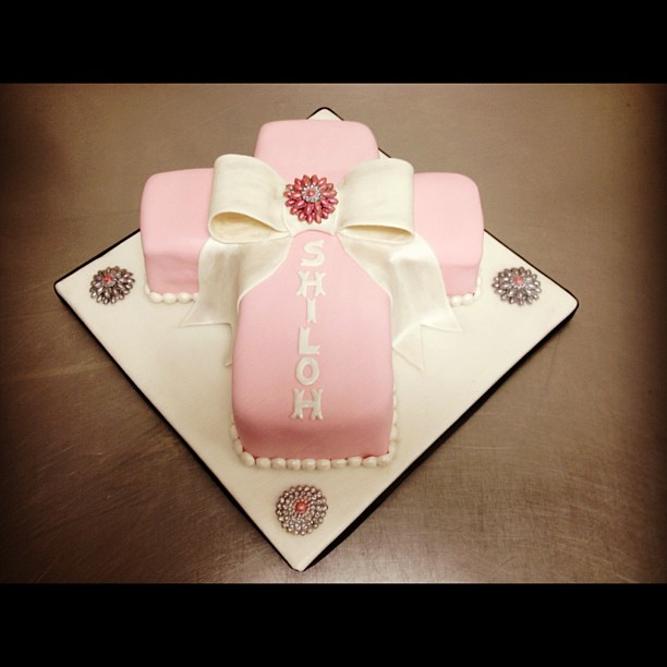 Baby Dedication Cake Images : Cake #3 of 3 is complete! Baby dedication cross cake. Flickr