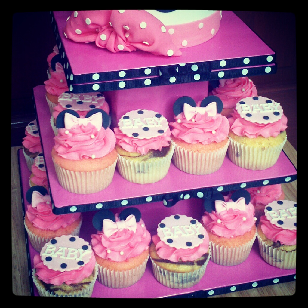 Minnie Mouse Baby Shower Cupcakes | www.pixshark.com ...