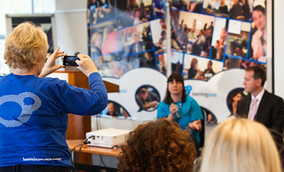 Mary snaps our fab Content pro Deborah on the panel | by LearningPool