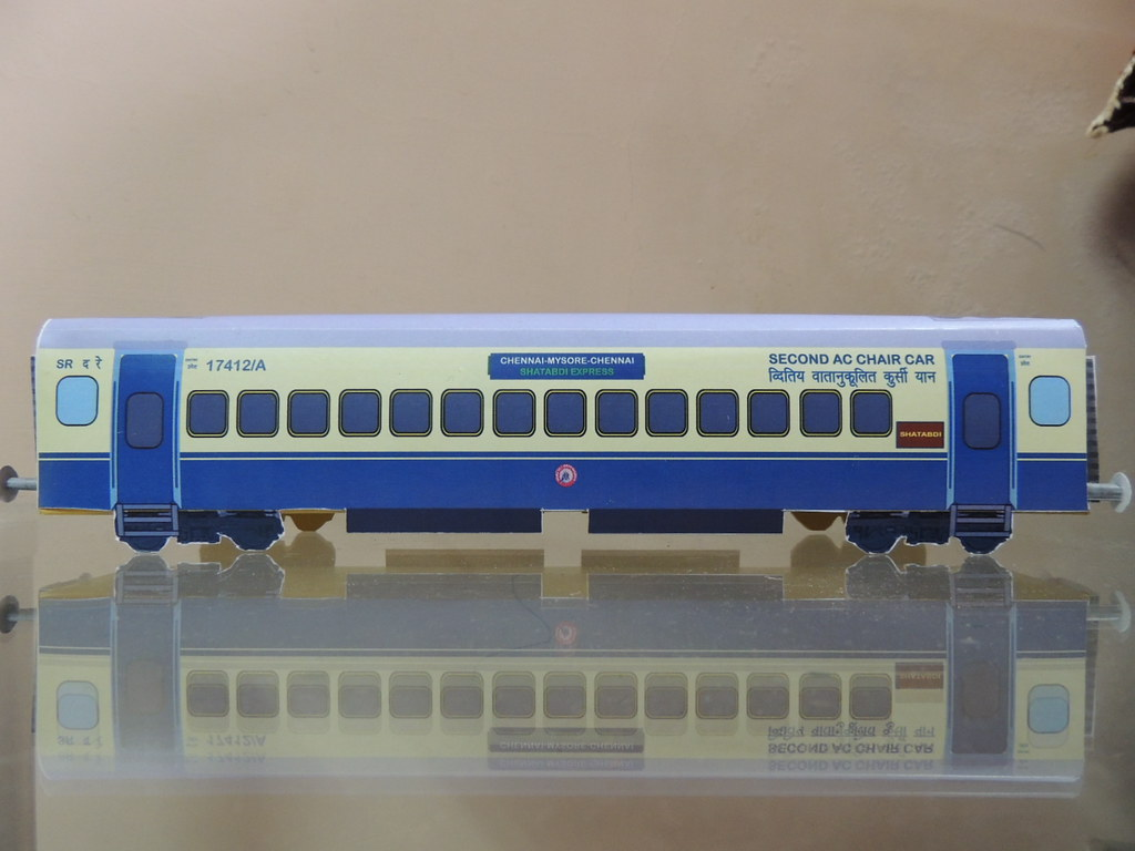 indian railway paper model of shatabdi express second ac c flickr