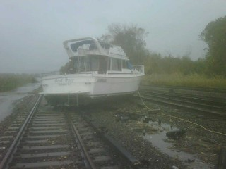 Boat On Tracks At Ossining | by MTAPhotos