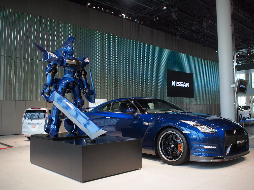 Nissan Gt R Gundam At Nissan Global Hq In Yokohama