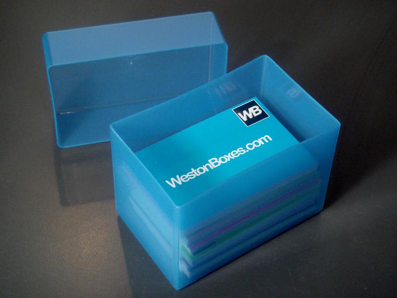 Blue Plastic Business Card Boxes | Blue plastic business car… | Flickr