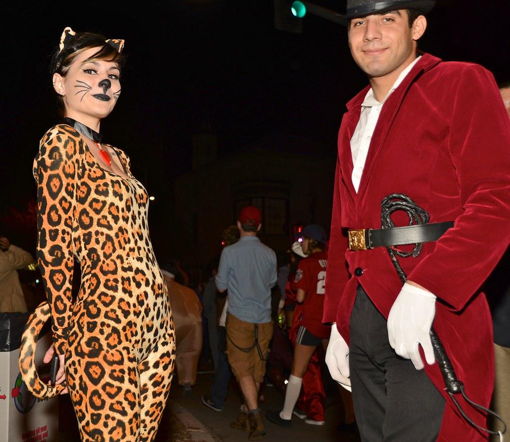 halloween west hollywood 2012 leopard and trainer | bloodyeyeballs