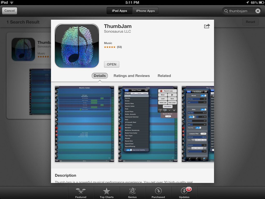 thumbjam ipad midi controller apps for music composition flickr. Black Bedroom Furniture Sets. Home Design Ideas