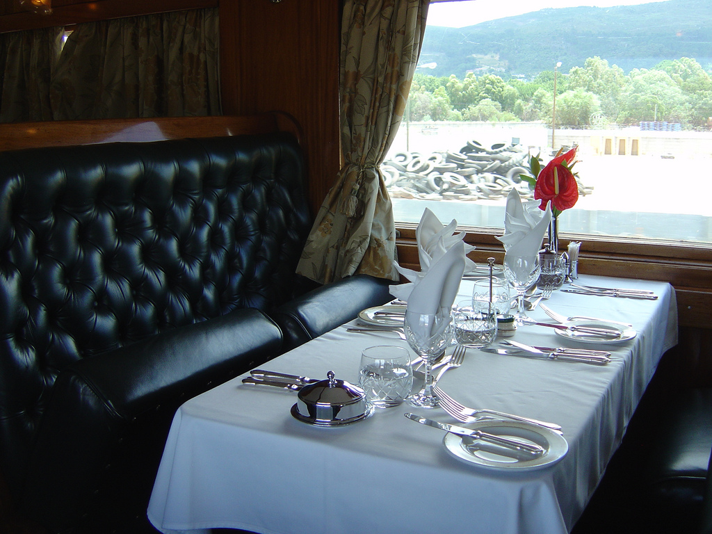 rovos rail from the luxury train club dining table flickr. Black Bedroom Furniture Sets. Home Design Ideas