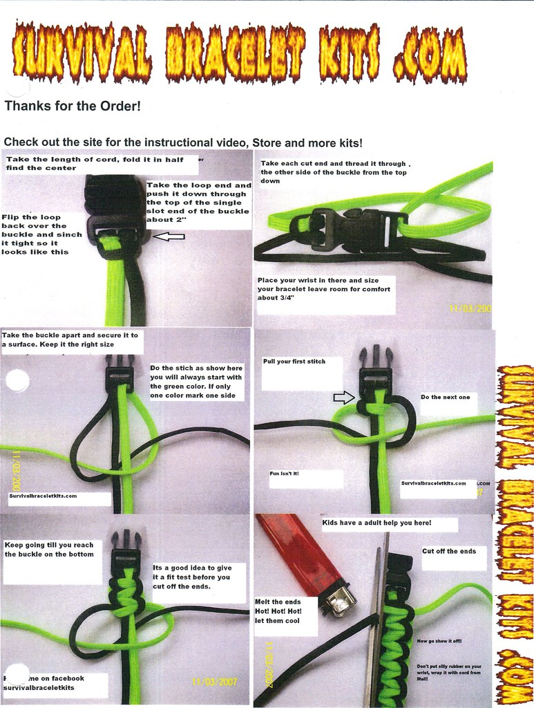 Paracord Bracelet Instructions Learn How To Make A Paracor Flickr