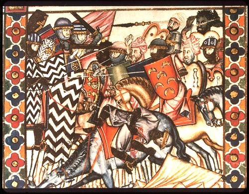 Imagen de Almanzor en las Cantigas de Santa María