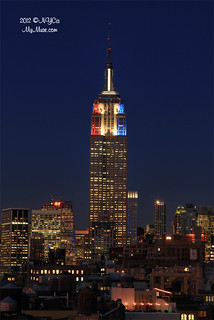Spiffy new color scheme for Empire State Building on election night | by NYCisMyMuse