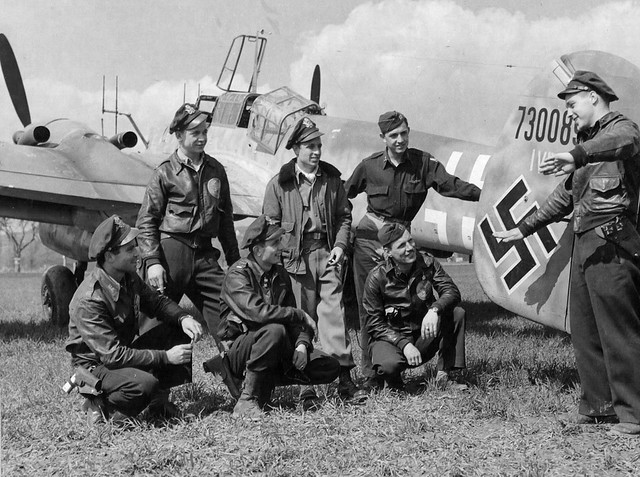 American pilots of the 379th Fighter Squadron U.S. Air Force captured ...