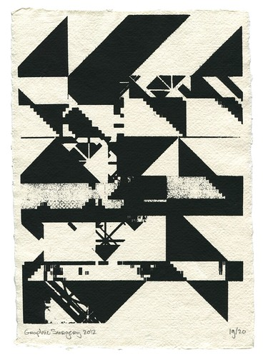 Post Graffiti Screenprint Screenprint On Handmade Paper