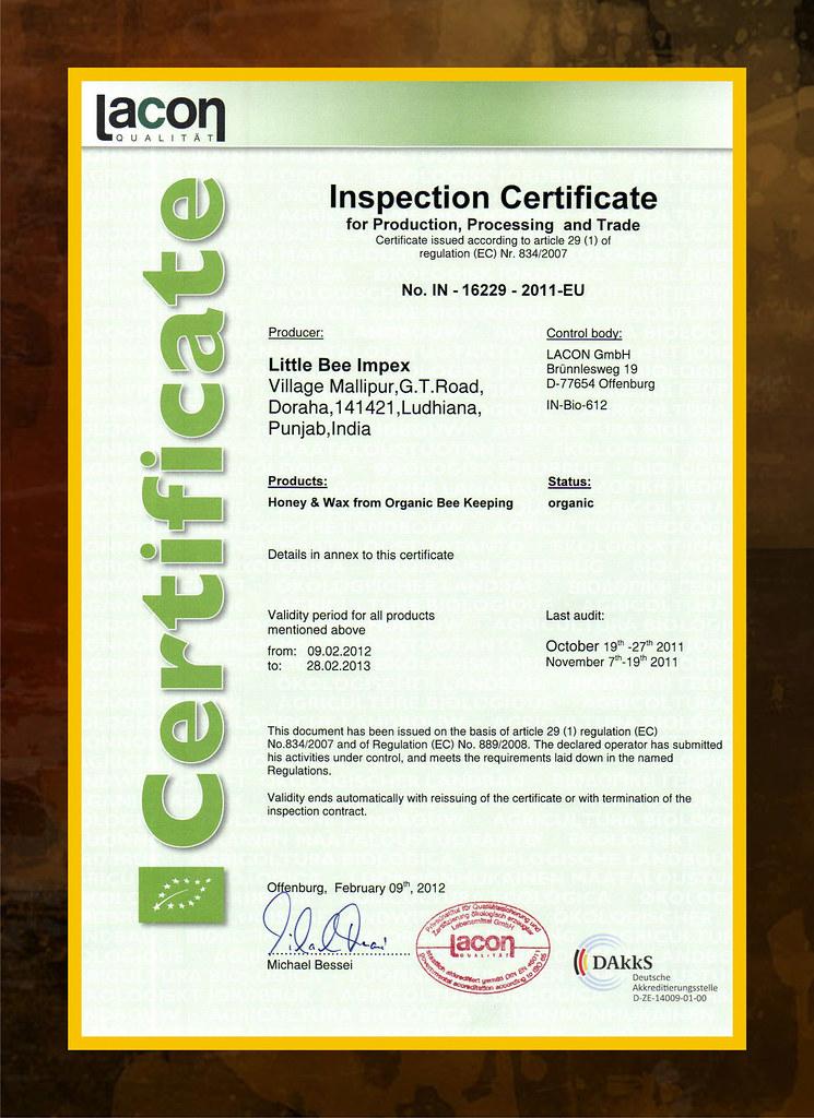 Lacon Organic Certification Shahzada Kapoor Flickr