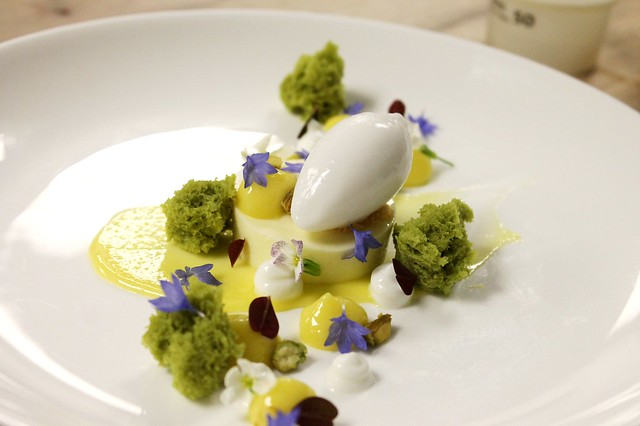 Microwave Cake Recipes Lemon: Lemon Cremeux, Greek Yogurt Sorbet, Pistachio Microwave