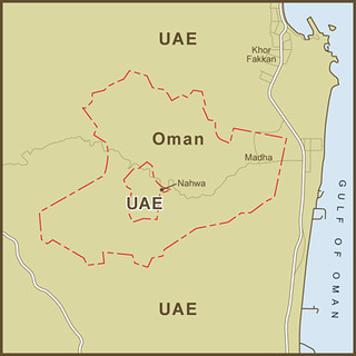 a map of the united arab emirates exclave inside the oman exclave inside the united arab