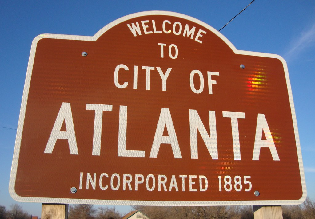 A Peachtree Street Sign In Atlanta, Georgia. Stock Photo ...