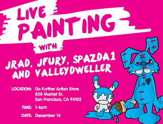Live Painting on 12/14 in downtown SF | by valleydweller