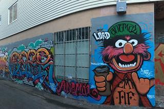Osage Alley Murals - Puppet mural