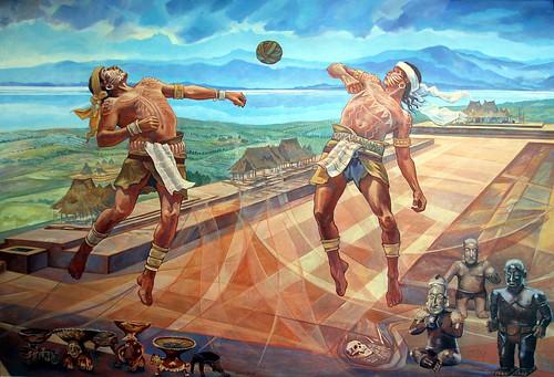 Juego de pelota mural del juego de pelota en el centro for Diario el mural de jalisco