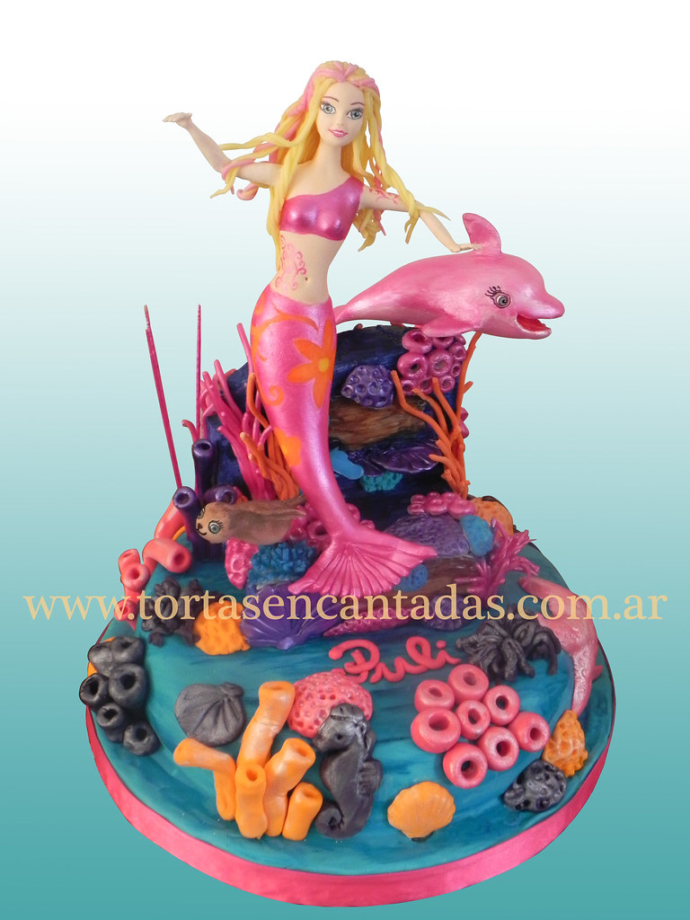 Barbie Mermaida Cake Torta Barbie Sirena Basic Cake