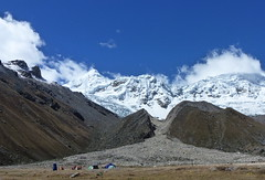 Nevado Tocllaraju 6032m at Ishinca BC, 4300m