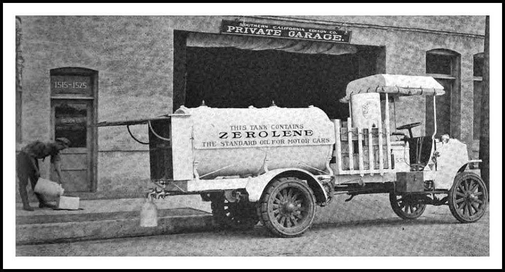 1914 April Packard 3 Ton Delivery Truck Bulk Oil Zerolene